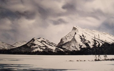 A familiar view (Mt. Rundle)