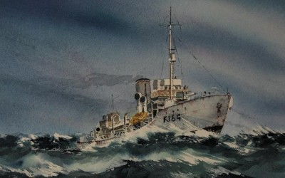 HMCS Moose Jaw. A rough blow