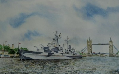 HMS Belfast .Pool of London