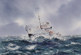 HMCS Moose Jaw ( Racing to support Convoy SC42)