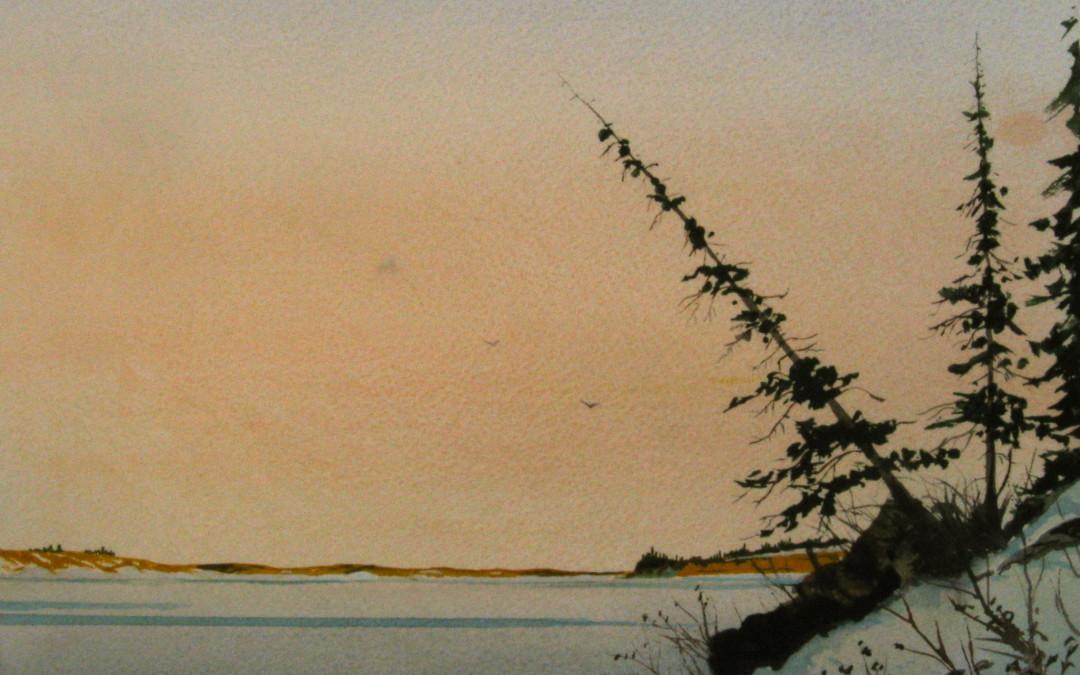 Glenmore: A view across the lake.