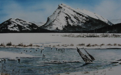 Mt.Rundle from Lake Vermillion